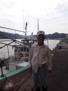 アマダイの漁師さん。大漁の後でほっこり。お疲れ様でした!